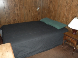Second bedroom with Queen bed at Snowman Cabin.